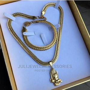Men Necklace and Bracelet Jewelry Set   Jewelry for sale in Lagos State, Ojo