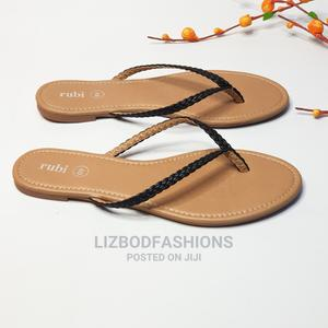 Black Flat Scissors Slippers or Slides | Shoes for sale in Lagos State, Yaba