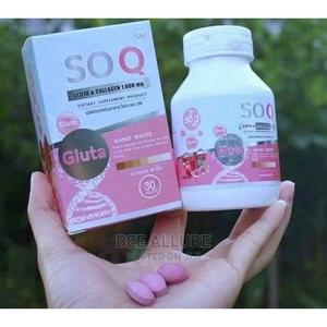 SOQ Gluta and Collagen Nano White Skin Whitening Supplement | Vitamins & Supplements for sale in Oyo State, Ibadan