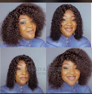 14 Inches Human Hair Closure Wig   Hair Beauty for sale in Kwara State, Ilorin West