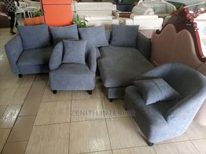 Quality Fabric L Shape With Too Singles   Furniture for sale in Abuja (FCT) State, Wuse 2