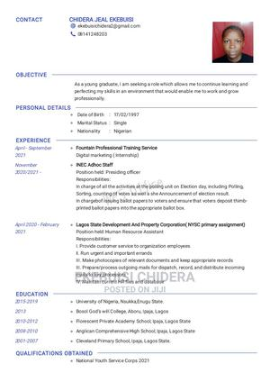 Advertising Marketing CV | Advertising & Marketing CVs for sale in Lagos State, Ikeja