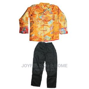 Two Pieces Long Sleeve Teenage Boy Chinesecostume-Gold,Black | Children's Clothing for sale in Lagos State, Ojota