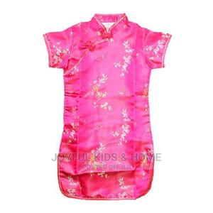 Girls Midi , Short Sleeve Chinese Costume -Deep Pink | Children's Clothing for sale in Lagos State, Ojota