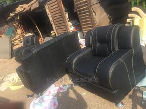7 Seater Black Leather Executive Sofa | Furniture for sale in Lagos State, Agege