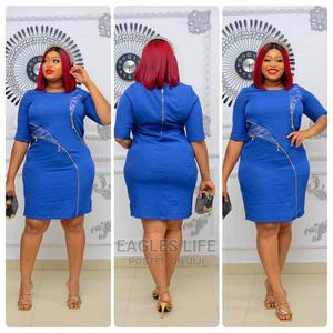 New Qaulity Female Lady Turkey Short Blue Gown | Clothing for sale in Lagos State, Lagos Island (Eko)