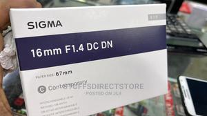 Sigma 16mm F/1.4 DC DN Lens for Canon EF-M M50 Mirrorless | Accessories & Supplies for Electronics for sale in Lagos State, Ikeja