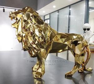 Geometric Animal Decoration Resin Lion Statue | Arts & Crafts for sale in Lagos State, Lekki