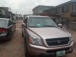 Honda Pilot 2004 EX 4x4 (3.5L 6cyl 5A) Gold | Cars for sale in Lagos State, Ajah