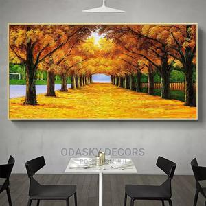 Autumn Landscape Yellow Fallen Leaves Painting Print | Arts & Crafts for sale in Lagos State, Ikoyi
