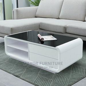 White Center Table With Glass Top   Furniture for sale in Lagos State, Ejigbo