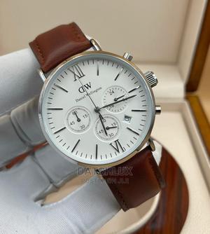 Daniel Wellington Men Leather Strap Wristwatch | Watches for sale in Lagos State, Lagos Island (Eko)