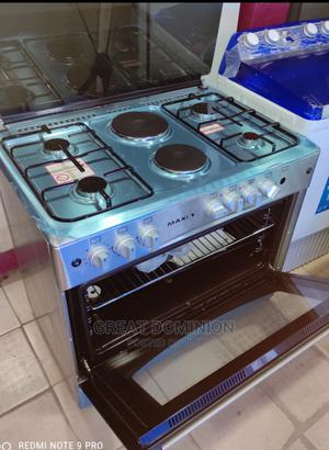 Maxi 60*90 4gas + 2electric Cooker+Oven+Lamp+Auto Ignition | Kitchen Appliances for sale in Lagos State, Ojo