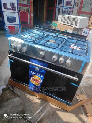 Maxi Standing 5 Gas Burner Cooker + Oven+Auto Ignition 2yrs | Kitchen Appliances for sale in Lagos State, Ojo