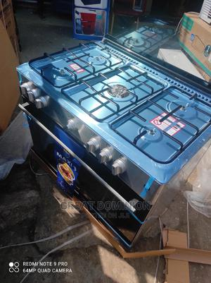 ^Maxi Standing 5 Gas Burner Cooker + Oven+Auto Ignition 2yrs | Kitchen Appliances for sale in Lagos State, Ojo
