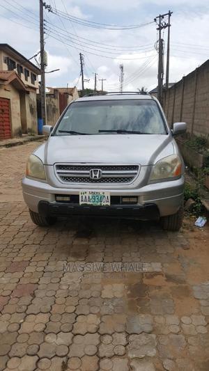 Honda Pilot 2005 EX-L 4x4 (3.5L 6cyl 5A) Silver | Cars for sale in Lagos State, Ojodu