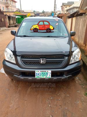 Honda Pilot 2004 EX-L 4x4 (3.5L 6cyl 5A) Gray | Cars for sale in Lagos State, Ikorodu