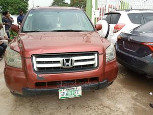 Honda Pilot 2006 EX 4x4 (3.5L 6cyl 5A) Red   Cars for sale in Lagos State, Ogba
