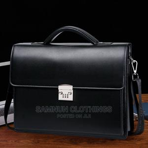 Genuine Executive Leather Men's Passcode Briefcase Handbag   Bags for sale in Lagos State, Abule Egba