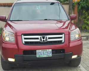 Honda Pilot 2006 EX-L 4x4 (3.5L 6cyl 5A) Red | Cars for sale in Lagos State, Gbagada