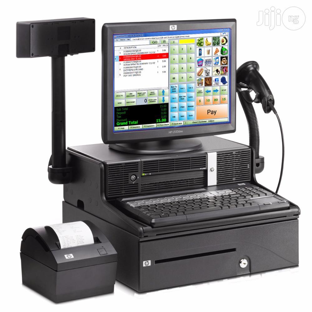 Complete Pos Terminal+Receipt Printer+Scanner+Pole Display+Cash Drawer+Software