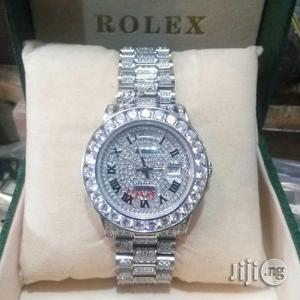 Rolex Full Stone Silver Watch | Watches for sale in Lagos State, Lagos Island (Eko)