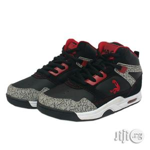 Ash and Black High Top Sneakers | Children's Shoes for sale in Lagos State, Lagos Island (Eko)