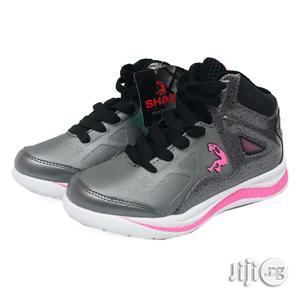 Ash Canvas With Pink and White Sole for Girls | Children's Shoes for sale in Lagos State, Lagos Island (Eko)