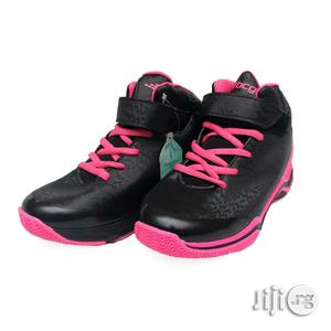 Black Canvas With Pink Sole and Lace for Girls   Children's Shoes for sale in Lagos State, Lagos Island (Eko)