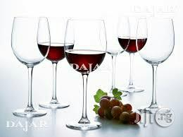 Turkey Transpernt Wine Glass Cup by 6pcs | Kitchen & Dining for sale in Lagos State, Maryland